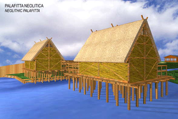Immagine palafitta Neolitica